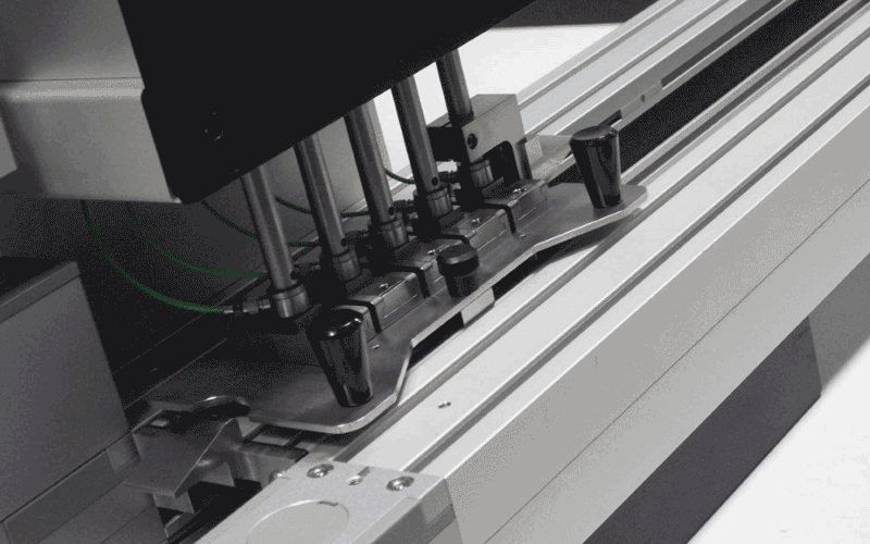 The PAPT3 test machine in action at Smithers testing the glueability of different materials