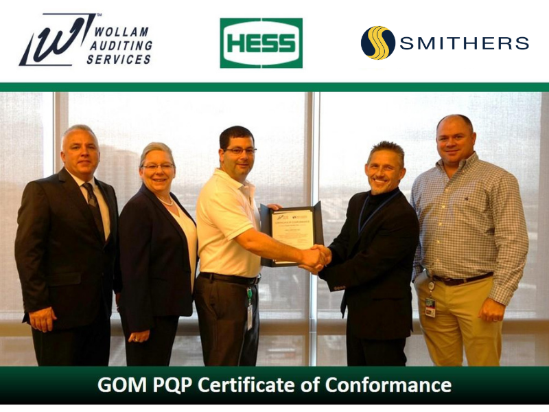 HESS Earns 3-Year Certificate of Conformance