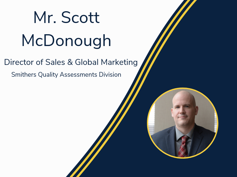 Smithers Quality Assessments Names New Director of Sales and Global Marketing