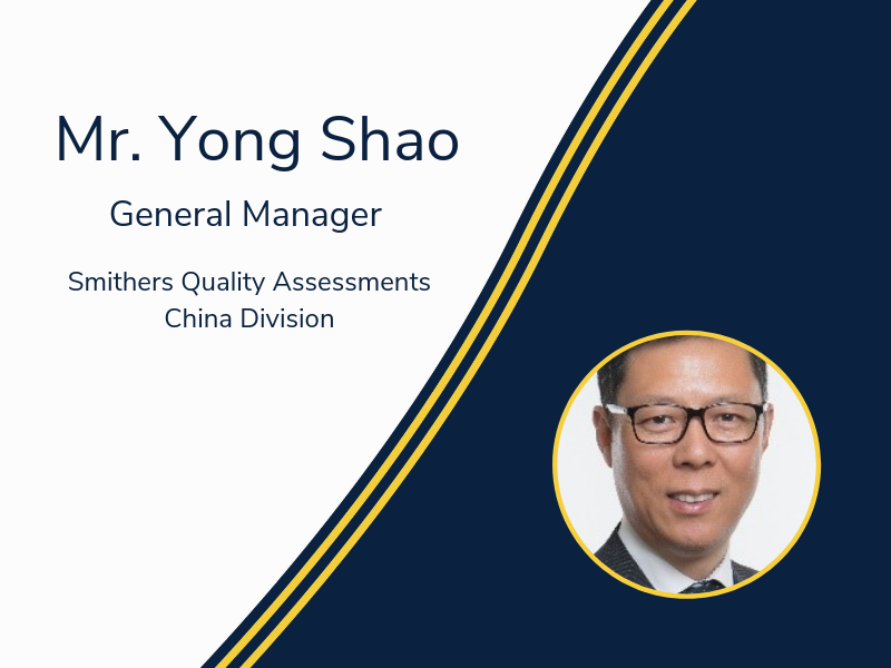 Smithers Quality Assessments China Welcomes New General Manager