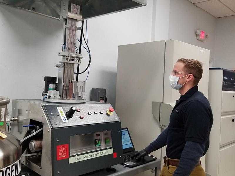 Smithers upgrades low temperature retraction instrumentation at rubber physical testing laboratory in Akron, Ohio