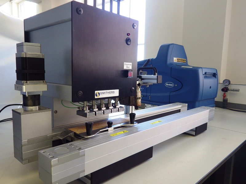 New machine measures bond strength of hot melt adhesives and substrates