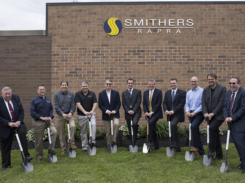 Smithers breaks ground on a facility expansion that will house a new tire testing system partnership